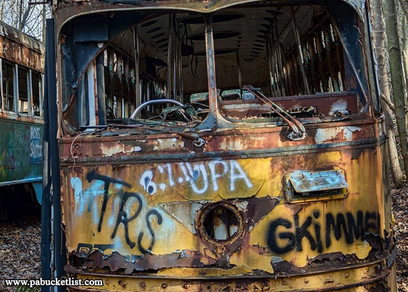 Urban explorers and fans of post-apocalyptic movies will feel right at home at the Windber Trolley Graveyard.