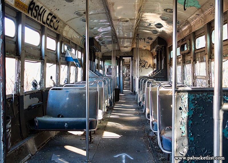 Touring the streetcars at the WIndber Trolley Graveyard is trip back through time.