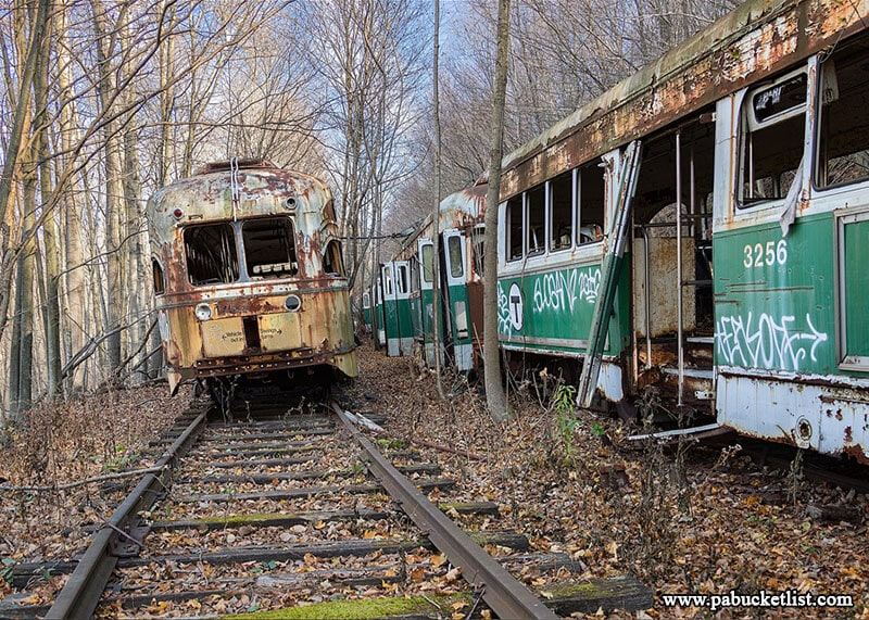 Scenes like this are why finding the Windber Trolley Graveyard are on the bucket list of so many urban explorers.