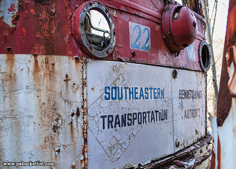 A little piece of Philadelphia at the Windber Trolley Graveyard as this vintage SEPTA car rusts away on the tracks.