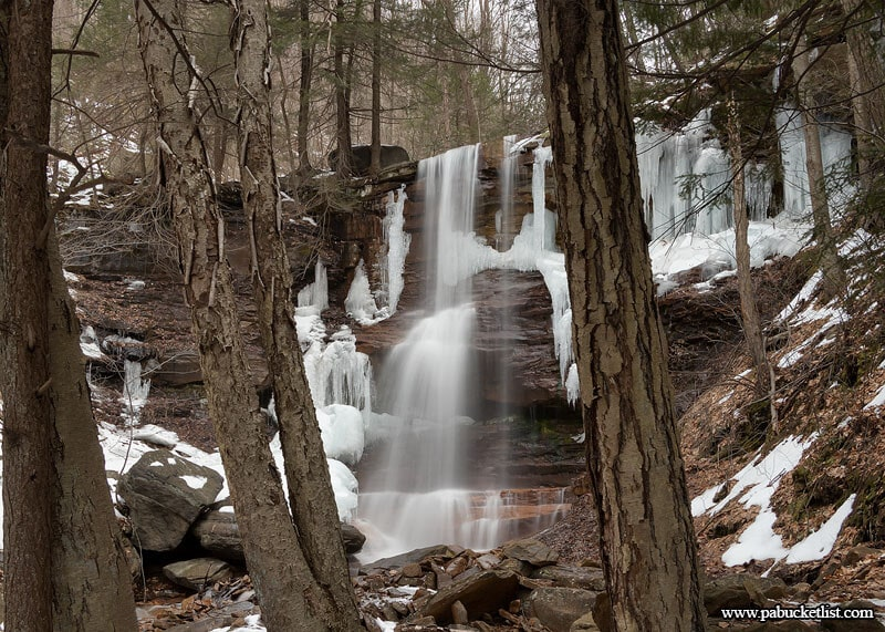 Approaching the First Waterfalls on Dutchmans Run in the McIntyre Wild Area.