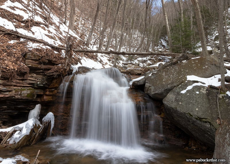 The Second Waterfalls on Dutchmans Run in the McIntyre Wild Area