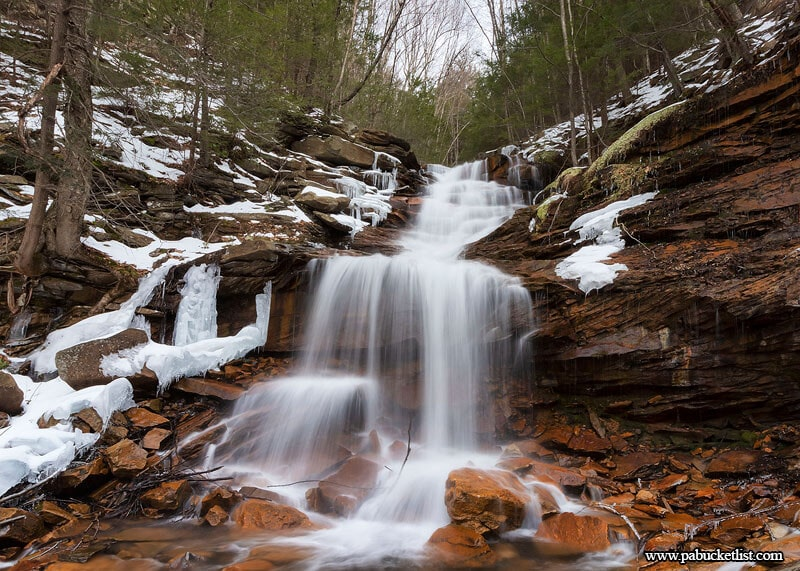 The Third Falls on Dutchmans Run in the McIntyre Wild Area.