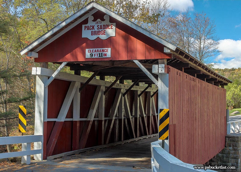 "When asking ""What is the best covered bridge in Pennsylvania"" it's hard not to put the Pack Saddle Bridge near the top of the list."