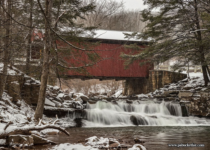 The Pack Saddle Covered Bridge - quite possibly the most beautiful covered bridge in Pennsylvania.