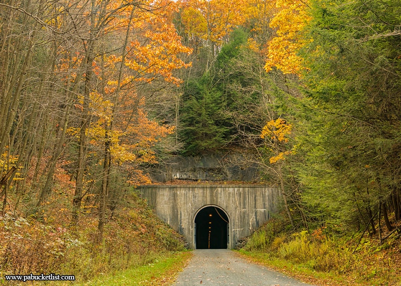 Approaching the Big Savage Tunnel along the Great Allegheny Passage in Somerset County, PA.