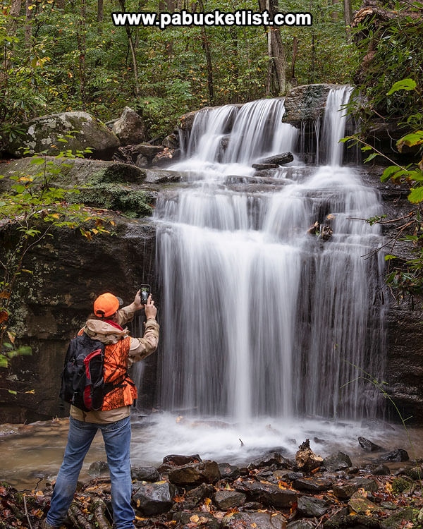Selfie at Fechter Run Falls, Ohiopyle State Park.