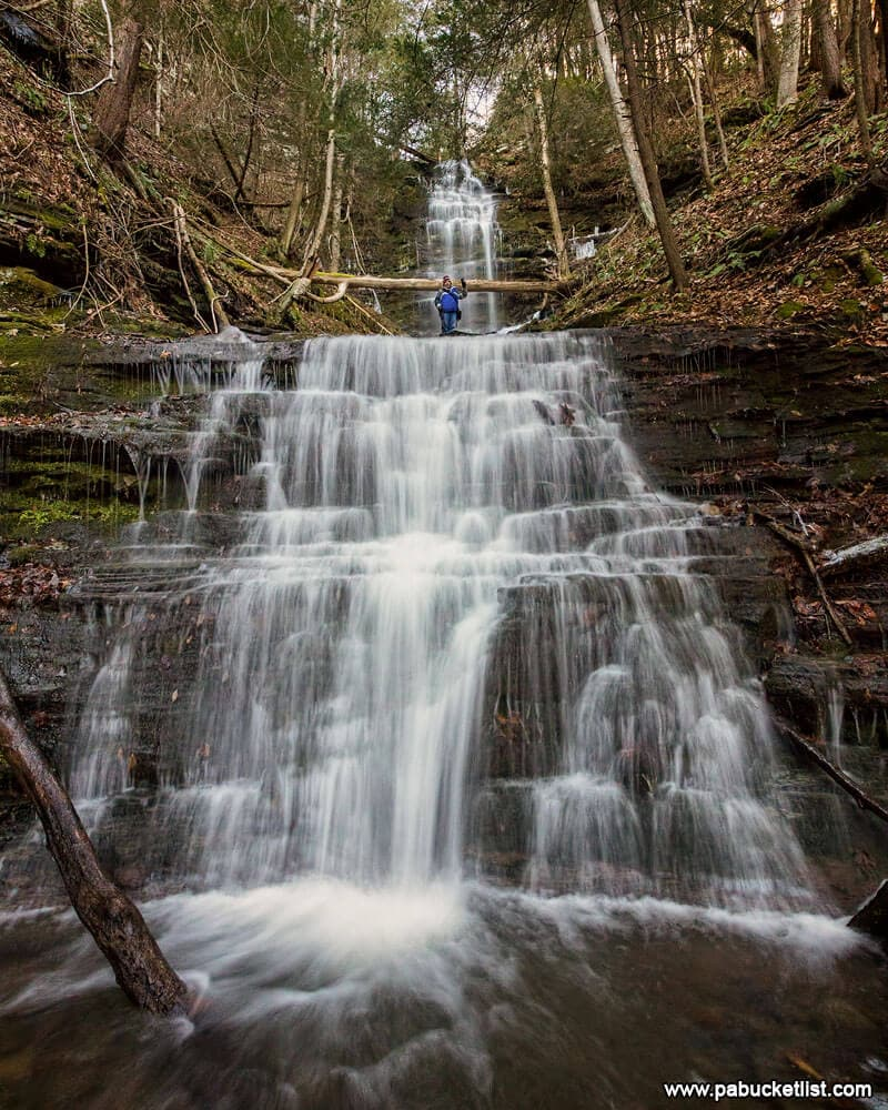 Steve standing on Chimney Hollow Falls, for a sense of scale.