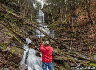 The author at Chimney Hollow Falls.