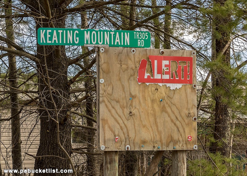 Sign for Keating Mountain Road.