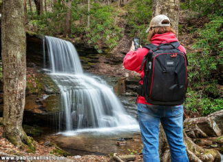 The author at Round Island Run Falls.