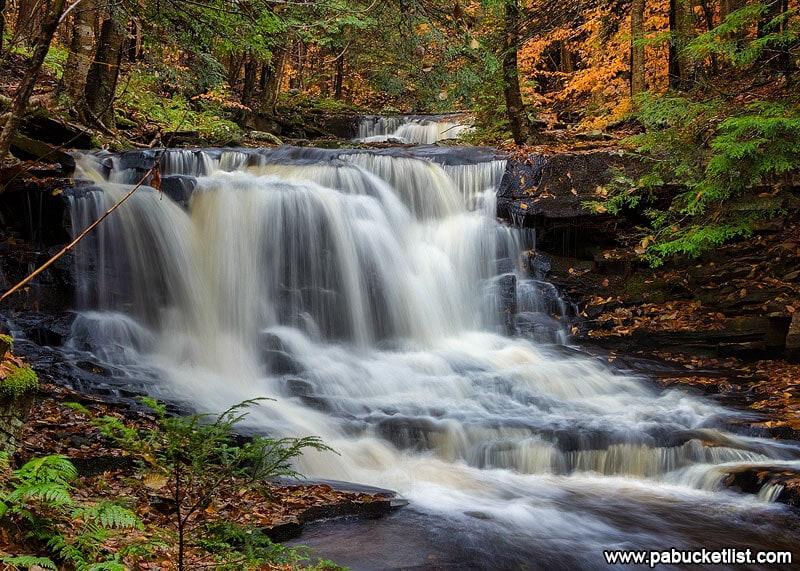 Fall foliage around Rusty Run Falls.