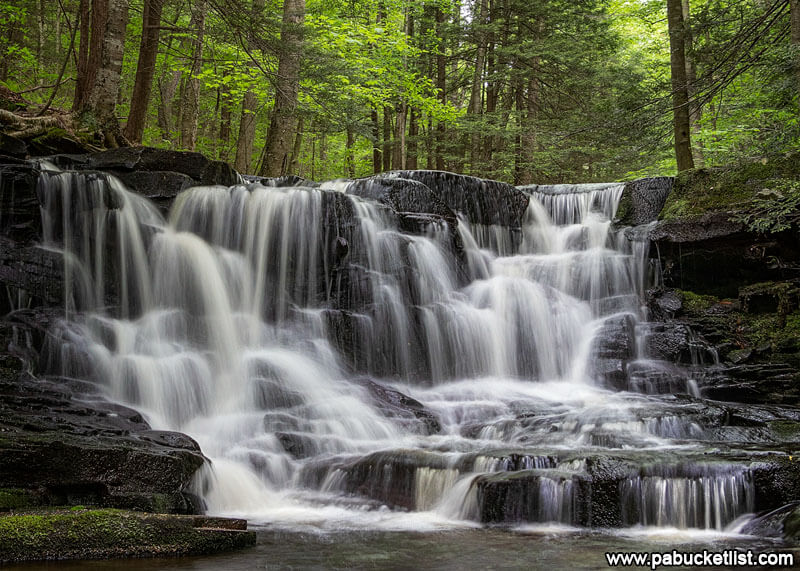 A close-up look at Rusty Run Falls in the Loyalsock State Forest.