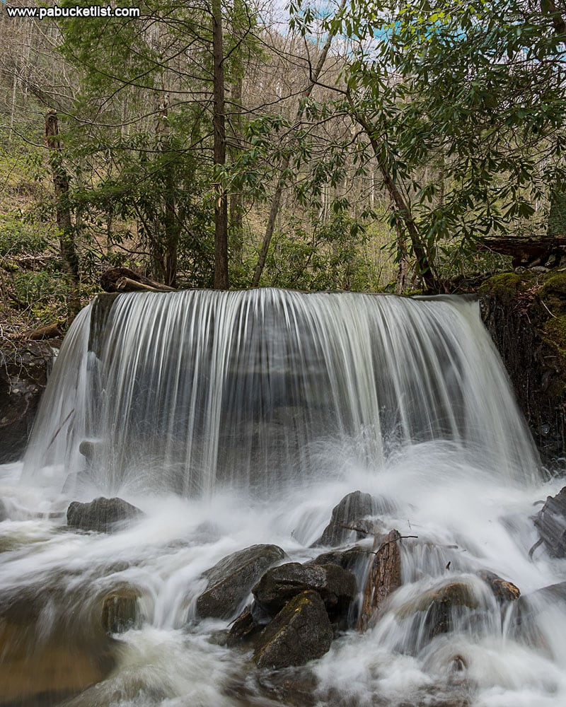 An early May view of Table Falls in Elk County, PA.