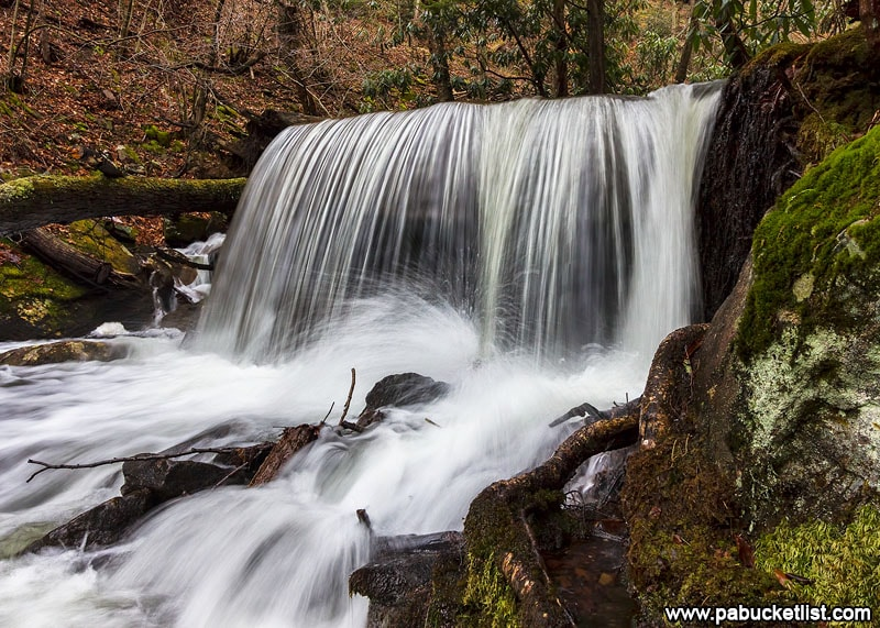 A side view of Table Falls in the Elk County portion of the Quehanna Wild Area.