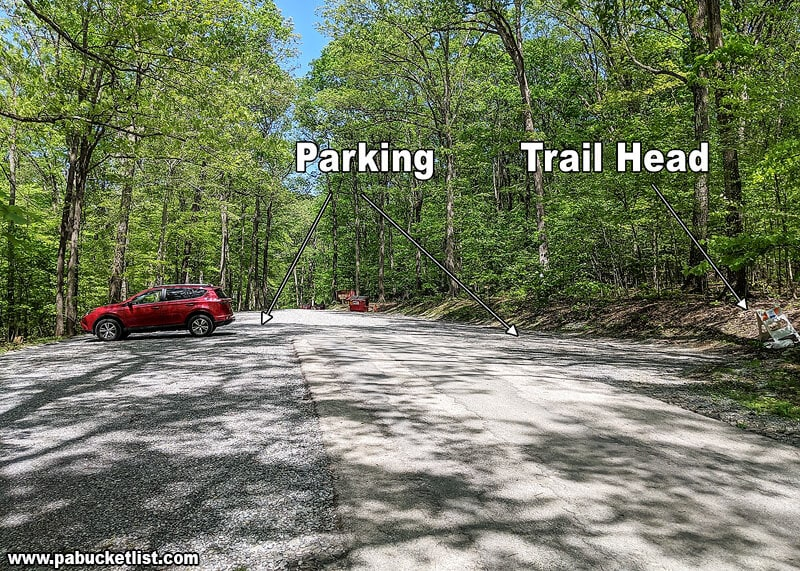 """The """"Equestrian Trail Head"""" parking lot where my hike to Flat Rock Vista started."""