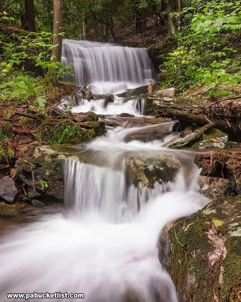 High water at Kyler Fork Falls.
