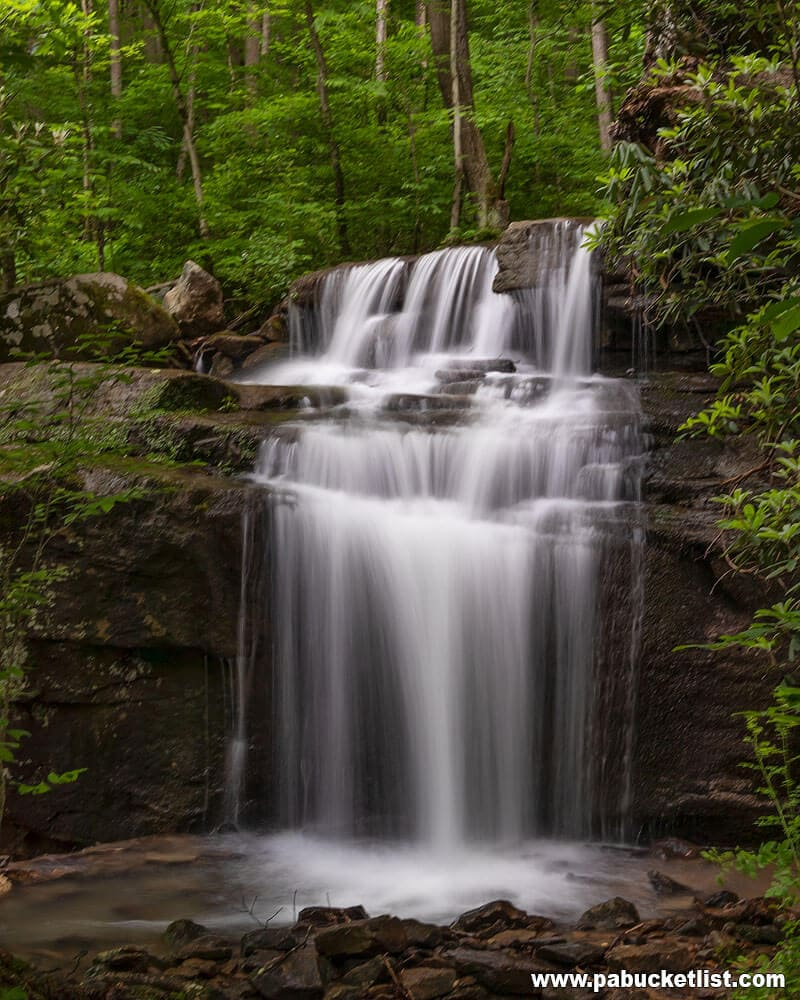 Fechter Run Falls at Ohiopyle State Park in the spring of 2019.