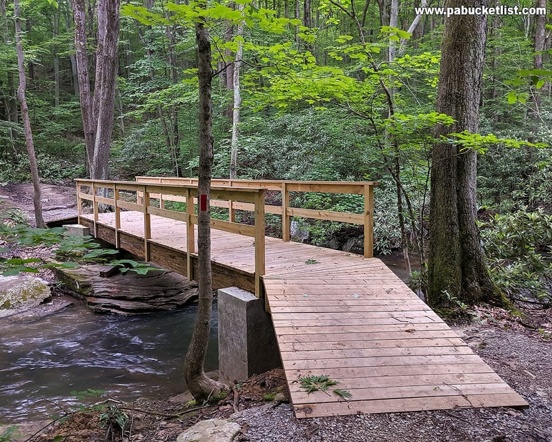 The Third Bridge along the Jonathan Run Trail at Ohiopyle State Park.