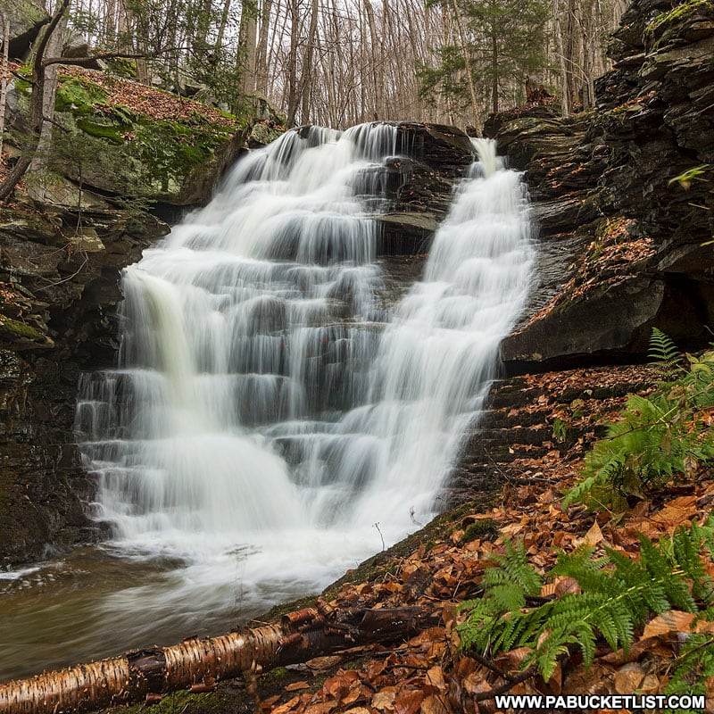 The fourth waterfall along Miners Run in the Loyalsock State Forest.