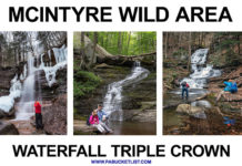 Waterfalls along Dutchmans Run, Miners Run, and Hounds Run, making up the McIntyre Wild Area Waterfall Triple Crown.