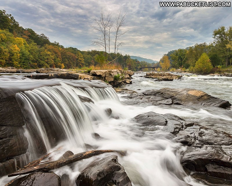 The Youghiogheny River above Ohiopyle Falls at Ohiopyle State Park.