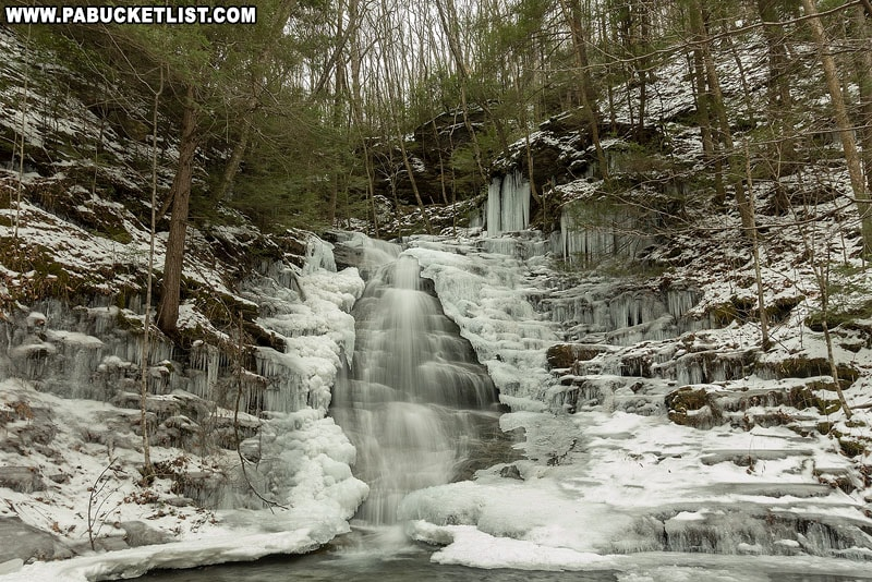 Abbotts Run Falls in Lycoming County.
