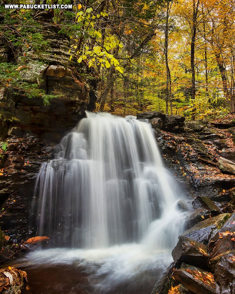 Big Run Falls is one of the most picturesque roadside waterfalls in Sullivan County.