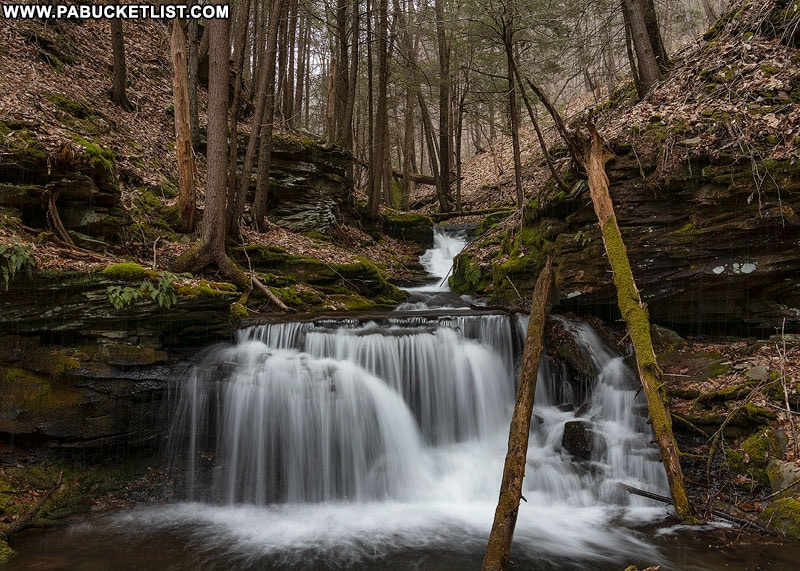 A small, unnamed waterfall on Bohen Run.