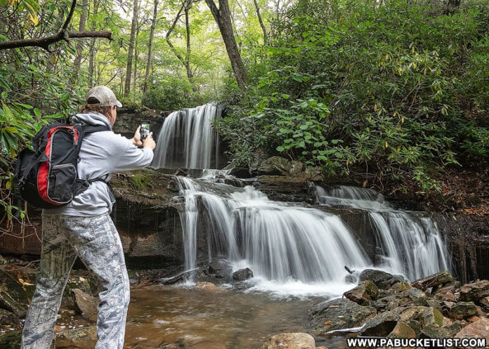 The author at Cole Run Falls in the Laurel Highlands.