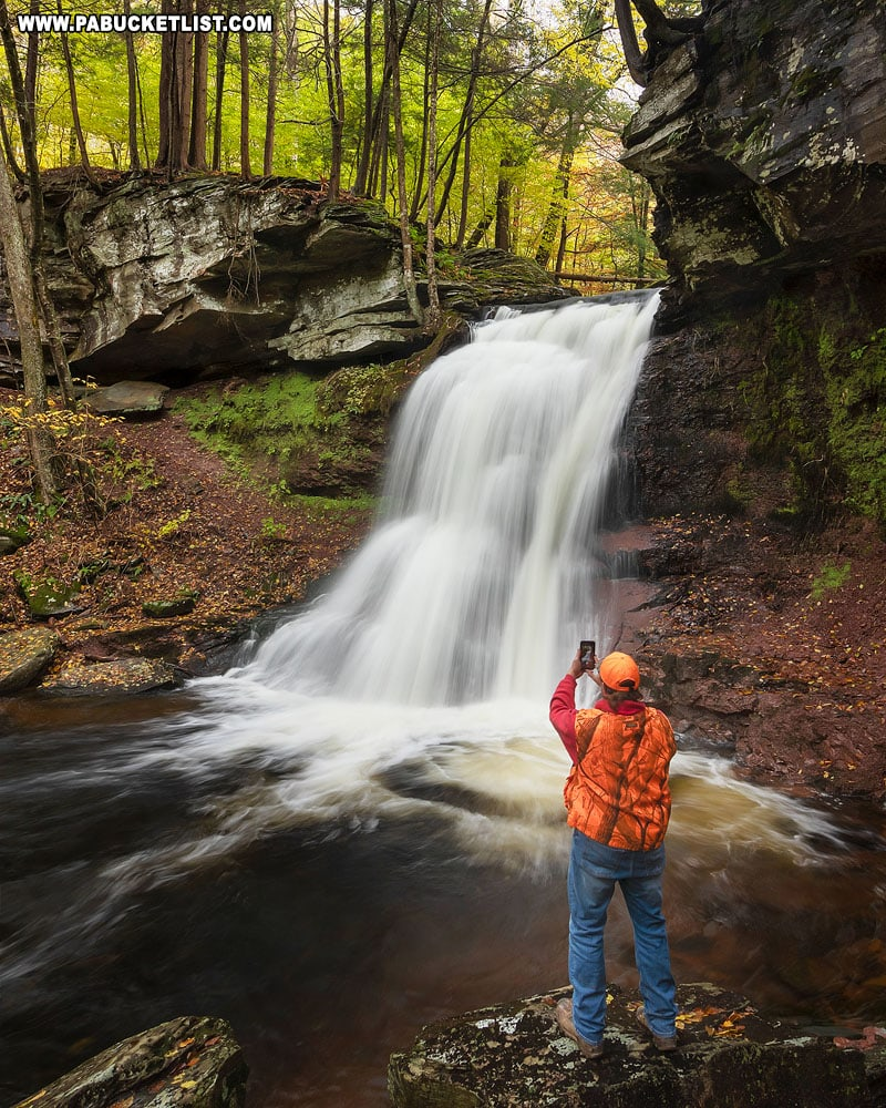 The author at Sullivan Falls on State Game Lands 13 in Sullivan County.