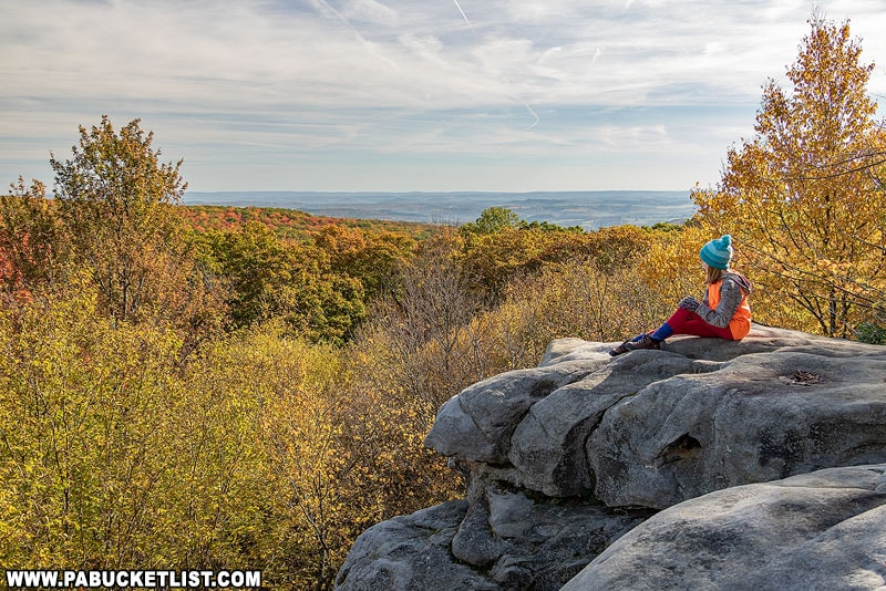 An October morning at Beam Rocks in the Forbes State Forest.