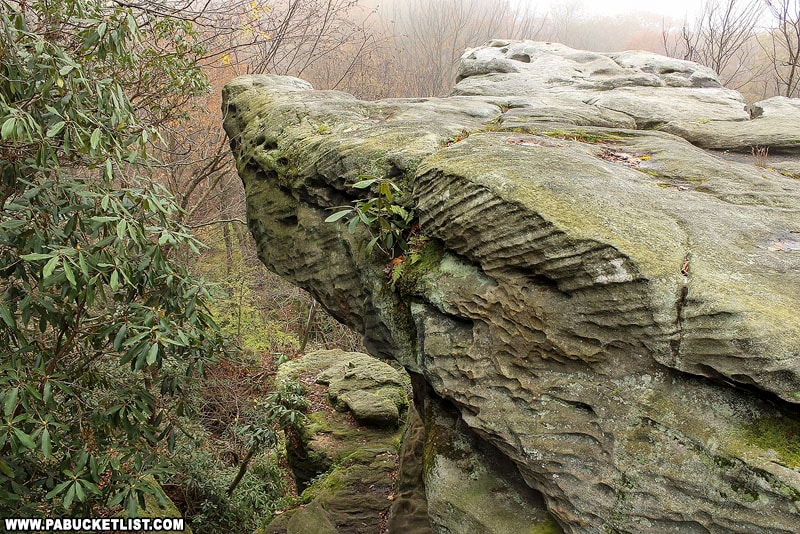 Beam Rocks in Somerset County.