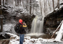 Rusty Glessner at Blackberry Run Falls in February 2020