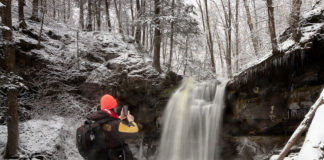 Rusty Glessner at Blackberry Run Falls in February 2020