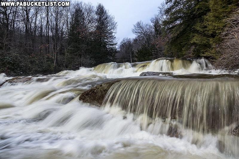 Cascades Falls at Ohiopyle State Park.