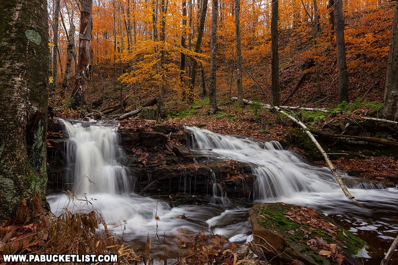 Fourth Falls on Dutters Run in October.