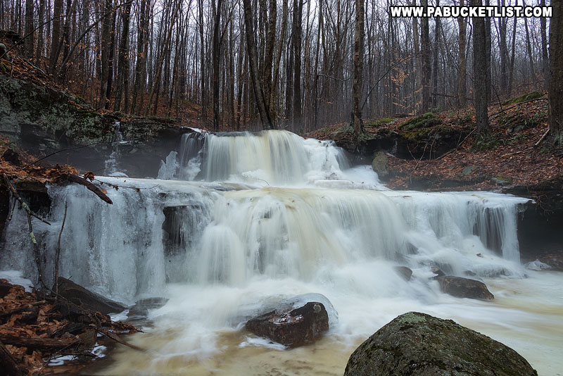Third Falls on Dutters Run in the wintertime.