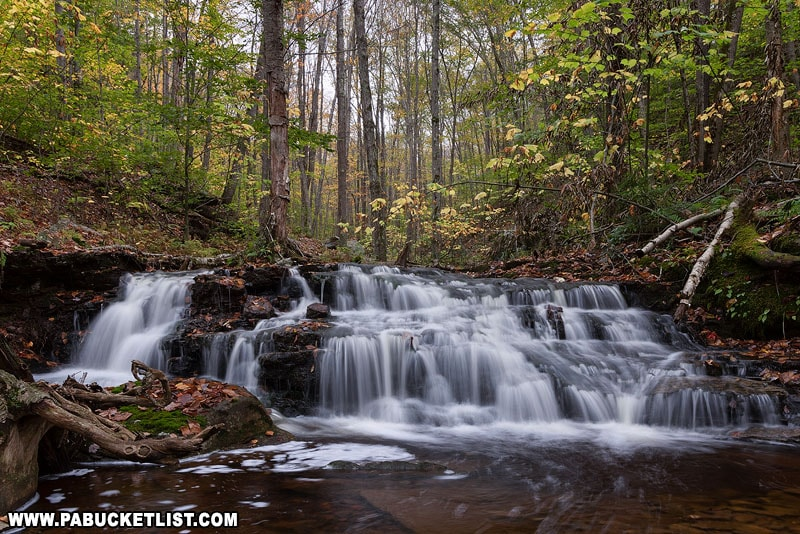 Fourth Falls on Dutters Run in the early fall.