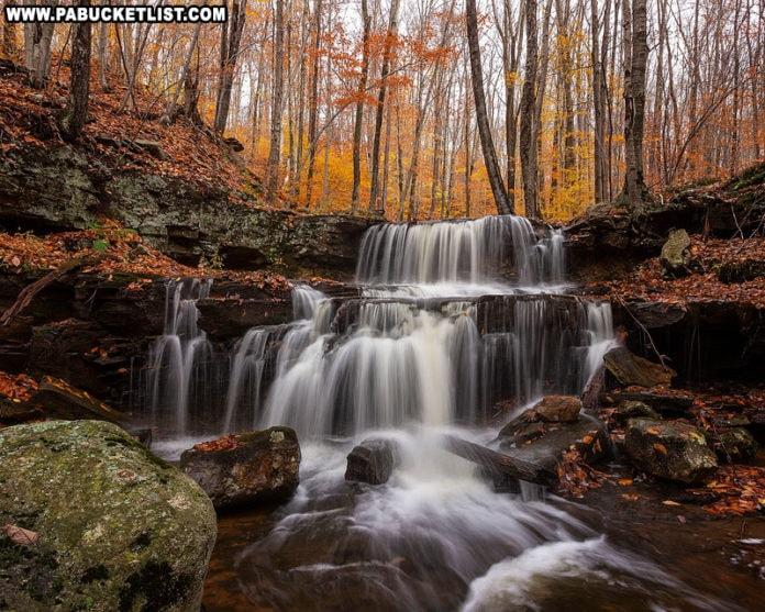 Third Falls along Dutters Run in the fall.