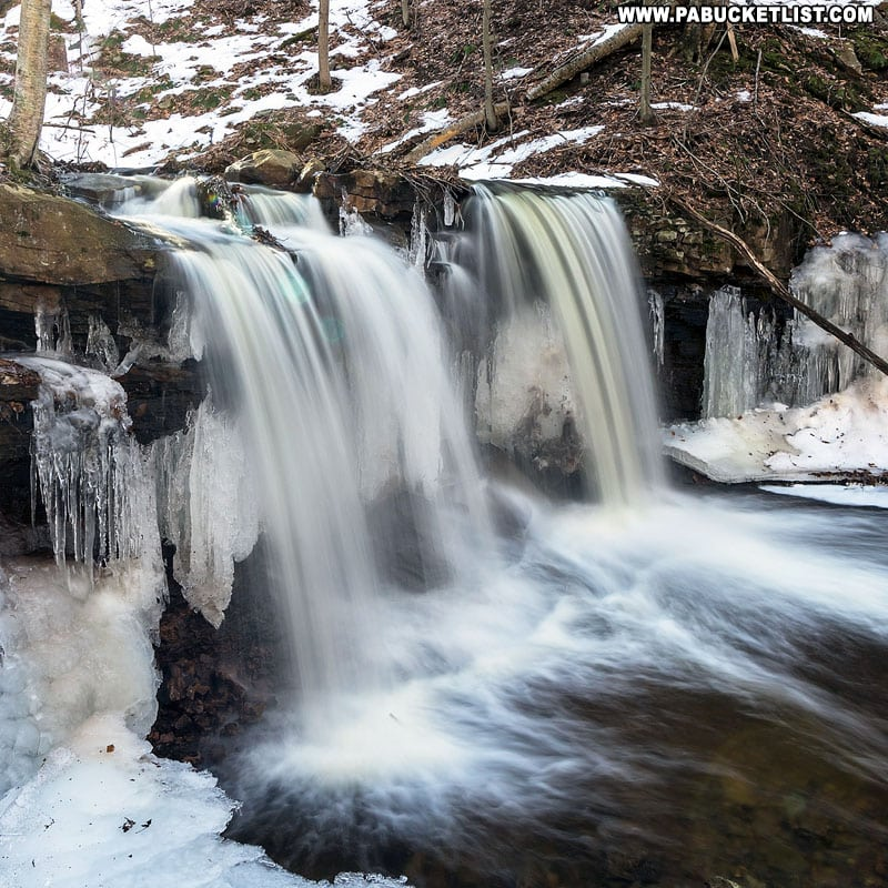 Triple Drop Falls along Dutters Run in the Loyalsock State Forest.