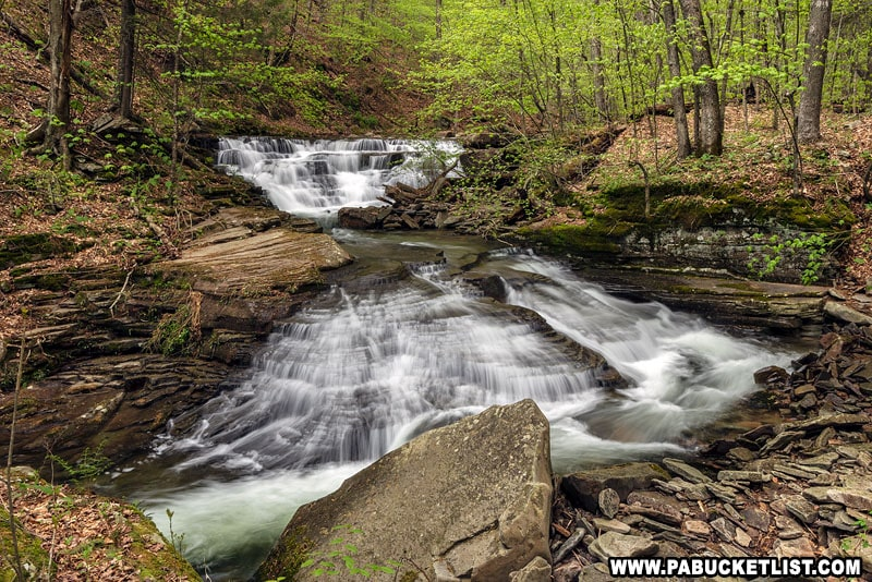 Foundation Falls along Quinn Run on State Game Lands 13.