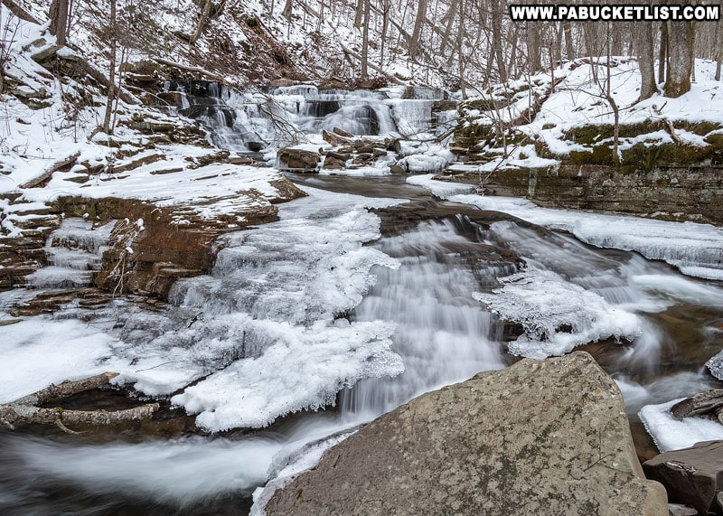 Foundation Falls on a winter day in Sullivan County.