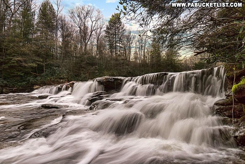 The Lower Cascades Falls along the Meadow Run Trail.