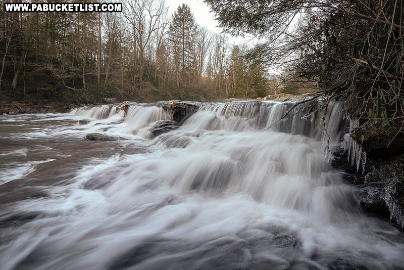 A late February view of the Lower Cascades Falls at Ohiopyle State Park.