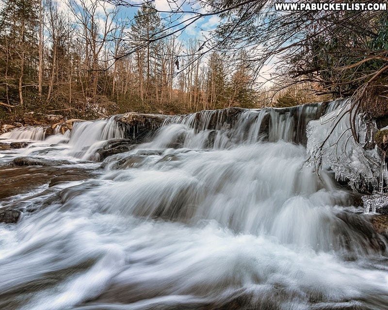 The Lower Cascades on Meadow Run at Ohiopyle State Park.