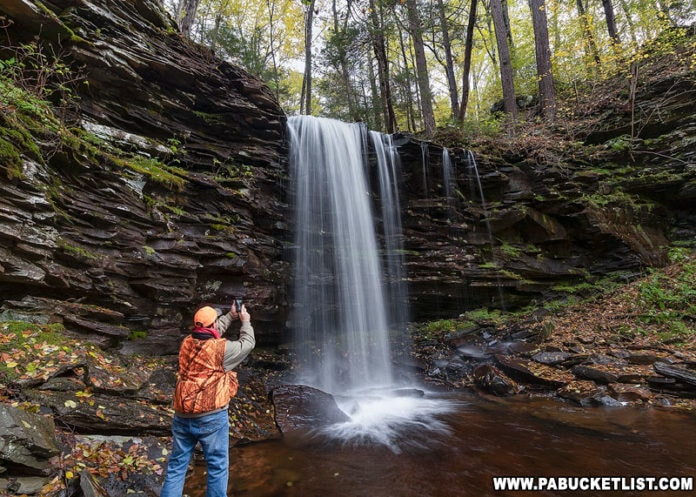 Rusty Glessner at Pigeon Run Falls on State Game Lands 13 in Sullivan County.