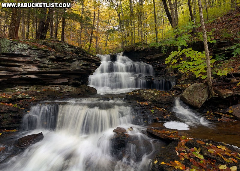 One of the many unnamed waterfalls along Pigeon Run in Sullivan County.