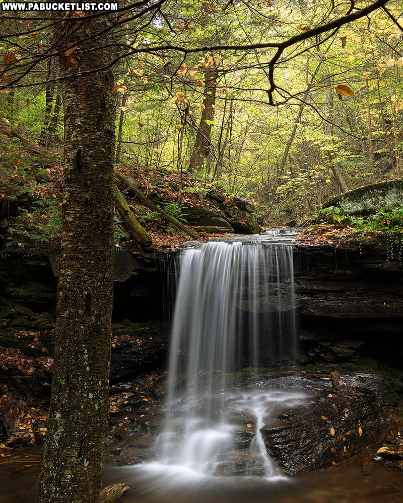 Shanty Run Falls on an autumn morning.