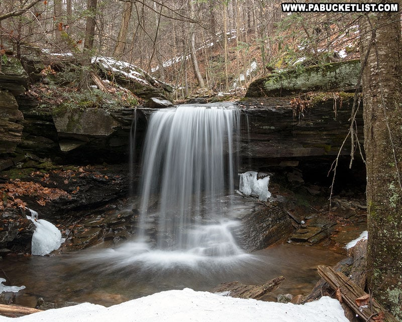 Shanty Run Falls on a cold winter day.